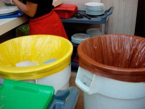 Lixo marrom de orgânicos